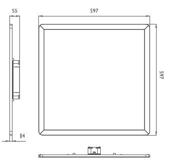 飞利浦smart panel led面板灯 rc160v 飞利浦led办公照明灯具高清图片