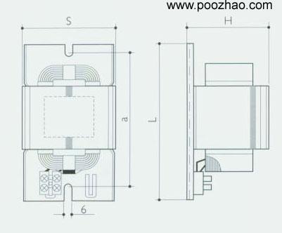 亚明高压汞灯镇流器(紧凑型)ggy》亚明电感
